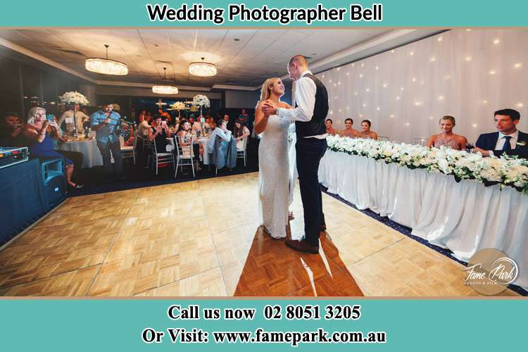 Photo of the Bride and Groom dancing Bell NSW 2786