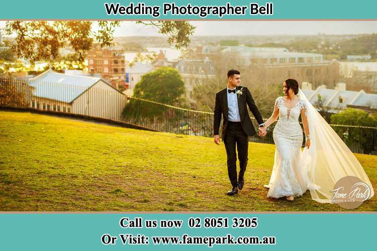Bride and Groom walking Bell NSW 2786