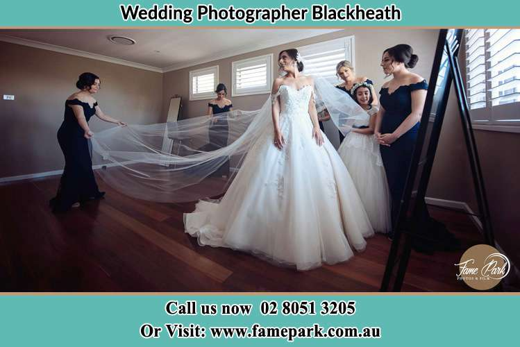 Photo of the Bride in Gown preparation Blackheath NSW 2785