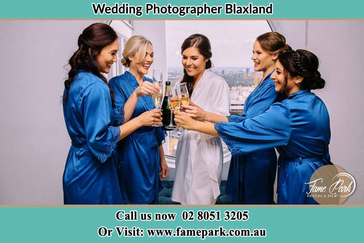 Photo of the Bride having drinks with the girls Blaxland NWS 2774