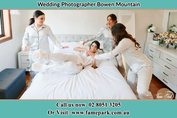 The Bride and the girls are enjoying with the pyjama party Bowen Mountain NSW 2753