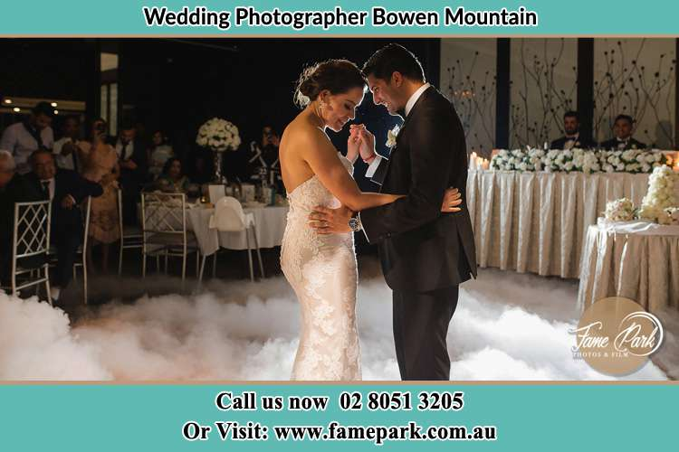 Photo of the Bride and Groom dancing Bowen Mountain NSW 2753