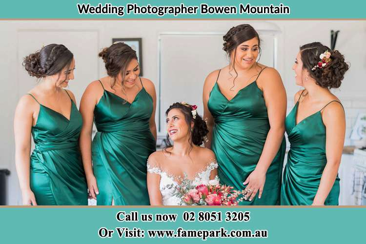 The Bride and her bridesmaids chatting each other Bowen Mountain NSW 2753