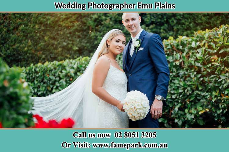 Bride and Groom at the garden Emu Plains NSW 2750
