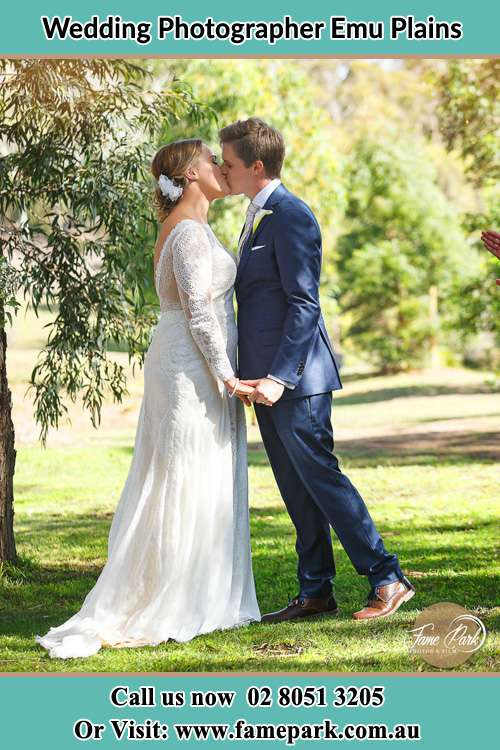 Bride and Groom kissed in the hill Emu Plains NSW 2750