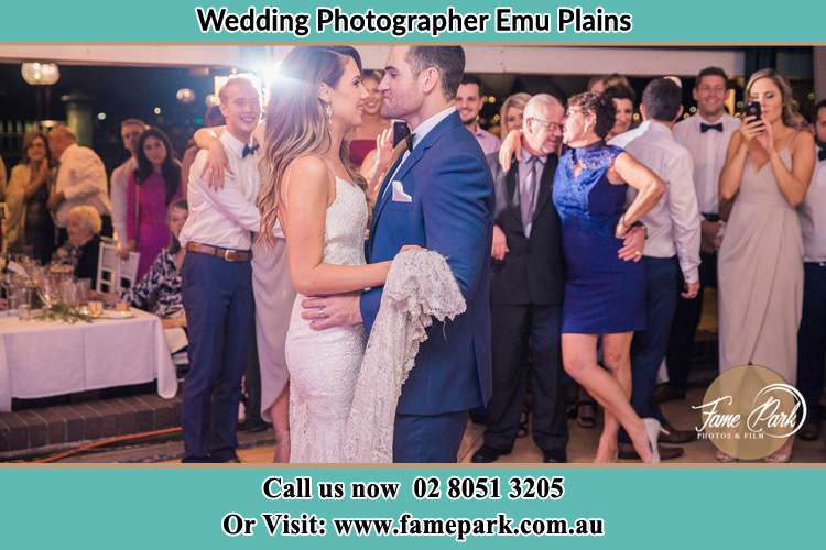 Photo of bride and groom dancing at the wedding reception Emu Plains NSW 2750