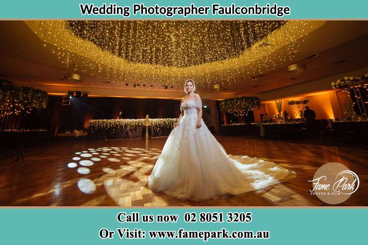 Bride at the dance floor Faulconbridge NSW 2776