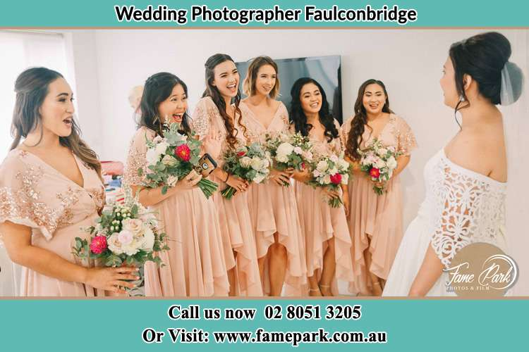 Photo of the Bride with the Brides Maids Faulconbridge NSW 2776