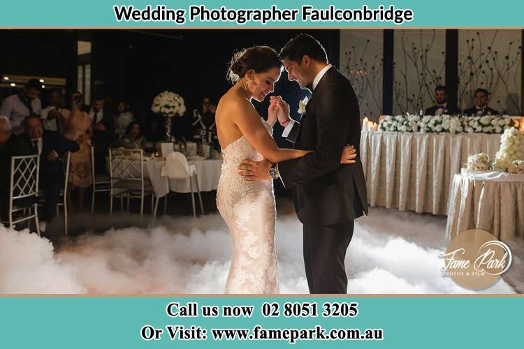 Photo of the Bride and Groom dancing Faulconbridge NSW 2776