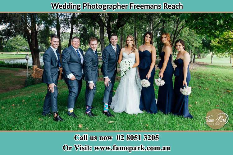 Bride and Groom with the secondary sponsors Freemans Reach NWS 2756