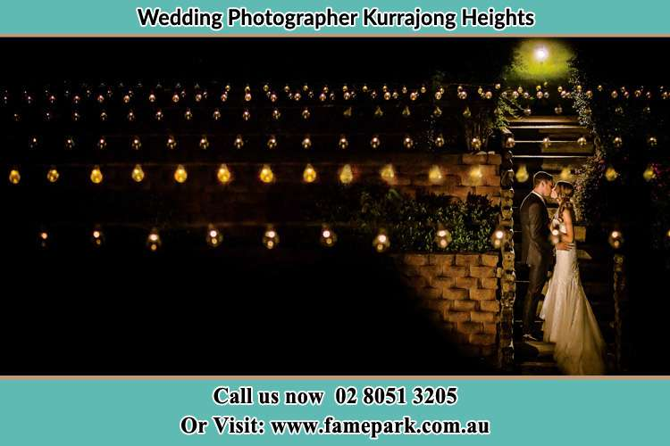 Photo of the new couple kissing at night Kurrajong Heights NSW 2758