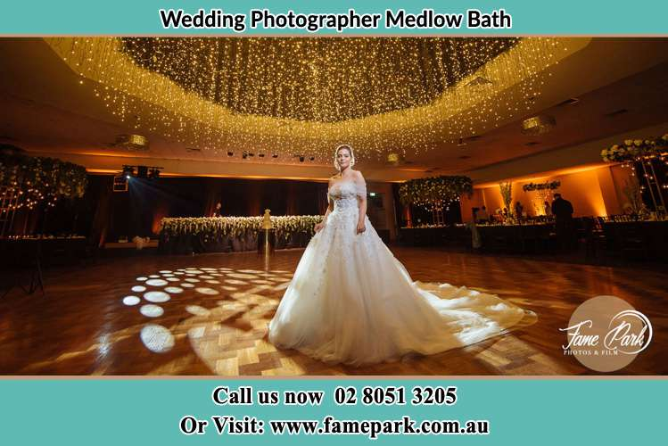 Photo of the Bride at the dancing floor Medlow Bath NSW 2780