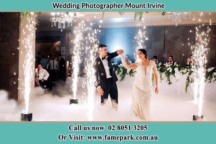 Photo of the Bride and the Groom dancing Mount Irvine