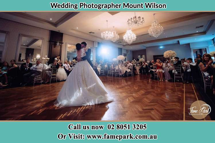 Photo of the Bride and the Groom dancing Mount Wilson