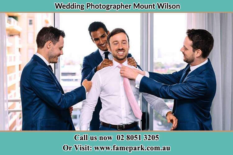 Photo of Groom getting ready Mount Wilson