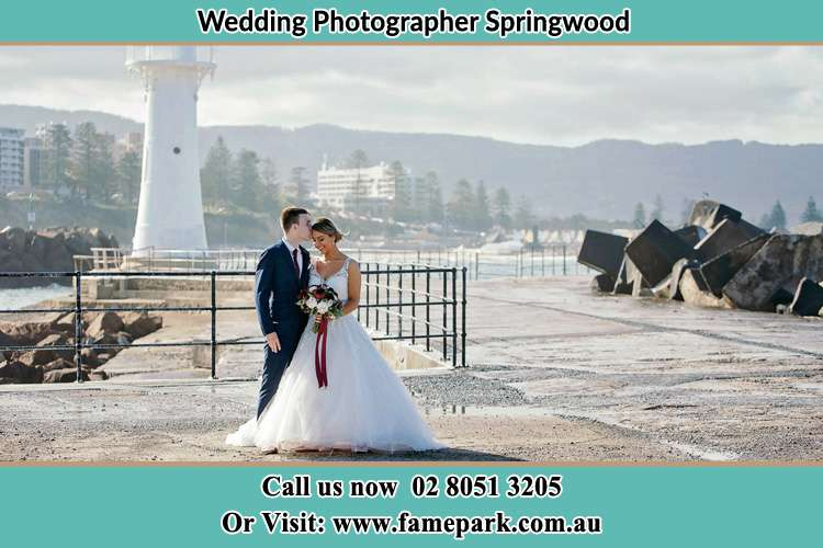 Photo of the Bride and Groom at the Watch Tower Springwood