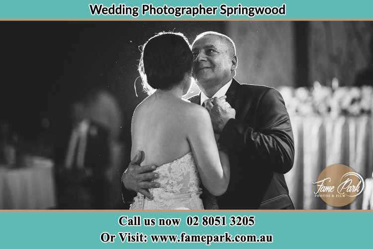 Photo of Bride dance with her Father Springwood